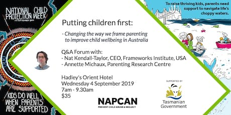 National Child Protection Week Q&A Forum, Hobart   tickets