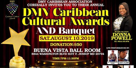 DMV CARIBBEAN CULTURAL AWARDS /DINNER & DANCE /FUNDRAISER tickets