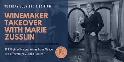 WINEMAKER TAKEOVER with Marie Zusslin all the way from Alsace, France!