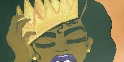 """Adjust Your Crown Paint & Sip"""