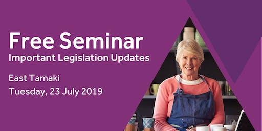Free Seminar: Legislation updates for small businesses - East Tamaki