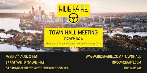 Ride Faire - Town Hall Meeting - Driver Q&A