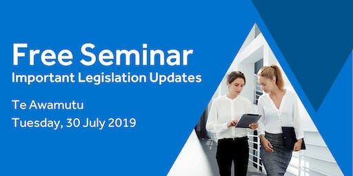 Free Seminar: Legislation updates for small businesses - Te Awamutu
