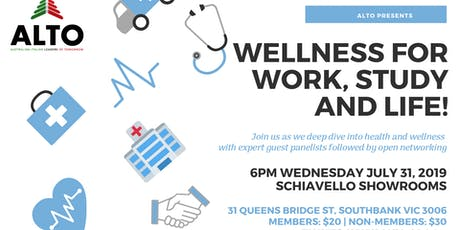 ALTO Presents: Wellness for Work, Study and Life! tickets