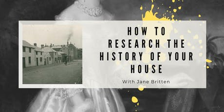 How To Research The History Of Your House tickets