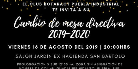 Cambio de Mesa Directiva 2019-2020 boletos