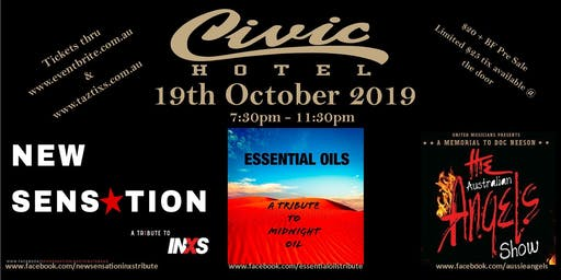 New Sensation, Essential Oils & The Australian Angels Live at The Civic