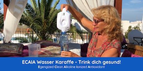 Sauberes, basisches Wasser direkt aus der Leitung - Petflaschen adios!  tickets