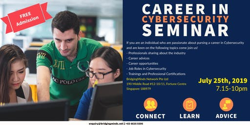Complimentary Seminar : Career in Cybersecurity