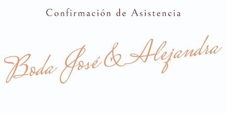 Boda Jose & Alejandra  entradas