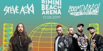 Steve Aoki Boomdabash Rimini Beach Arena 13 Agosto 2019 + Offerta Hotel