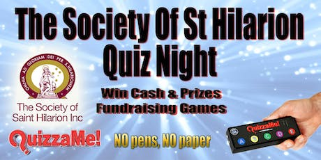 The Society Of St Hilarion Quiz Night Fundraiser tickets