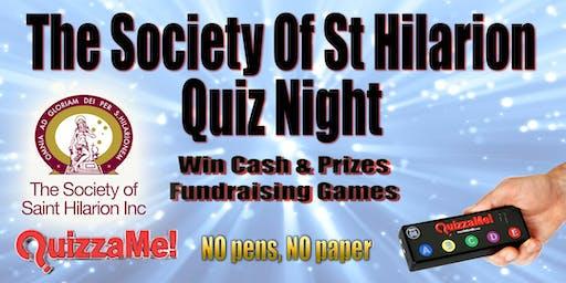 The Society Of St Hilarion Quiz Night Fundraiser