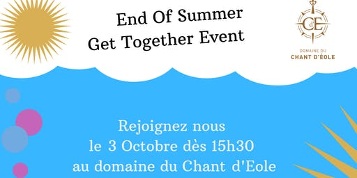End of summer Get Together event - 3 Oct.