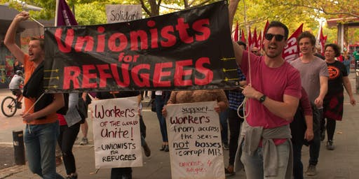 Unionists for Refugees protest 6 Years of Manus & Nauru
