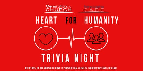 Heart For Humanity - Trivia Night tickets