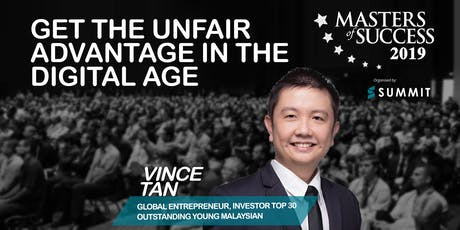 Masters Of Success 2019 Kuala Lumpur Feat. Online Marketing Geek Vince Tan tickets