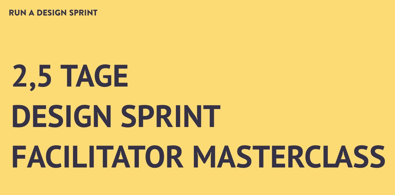 2,5 -Tage Design Sprint Facilitator Masterclass in Berlin - auf Deutsch