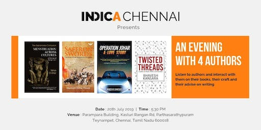 """Indica Chennai presents """"An Evening With 4 Authors"""""""