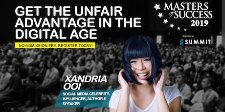 Masters of Success Kuala Lumpur 2019 Presents Media Influencer Xandria Ooi tickets