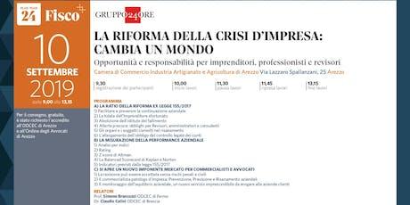 LA RIFORMA DELLA CRISI D'IMPRESA CAMBIA UN MONDO, Arezzo, 10 settembre biglietti