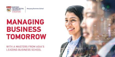 Nanyang Business School Postgraduate Fair 2019 tickets