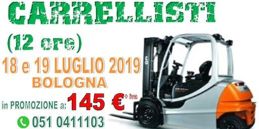 Corso PATENTINO MULETTISTA a BOLOGNA il 18 e 19 LUGLIO 2019.