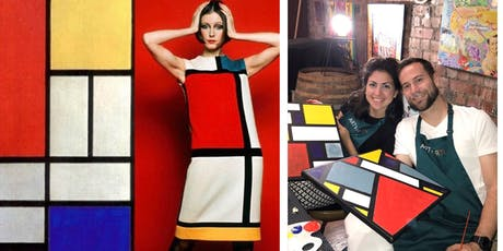ARTYPARTY - Give Art a Go! Paint Piet Mondrian inspired abstract  - 1st drink free! tickets