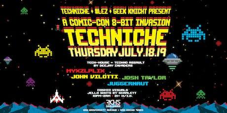 Techniche Comic-Con 8 Bit Invasion tickets