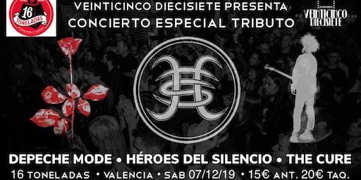 ESPECIAL TRIBUTO A HÉROES DEL SILENCIO, DEPECHE MODE Y THE CURE EN VALENCIA
