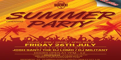 Summer Opening Party (15 Plus)