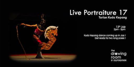 Live Portraiture 人像素描: Tarian Kuda Kepang 馬騰舞