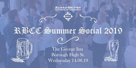 RBCC Summer Social 2019 tickets