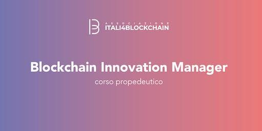 CORSO BLOCKCHAIN INNOVATION MANAGER_Milano|Settembre