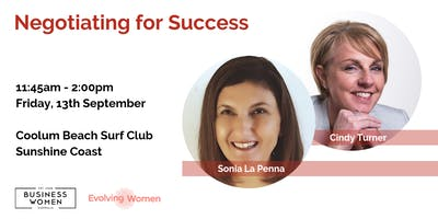 Sunshine Coast: Business Women Lunch - Negotiating for Success