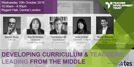 Developing Curriculum and Teachers: Leading from the middle  tickets