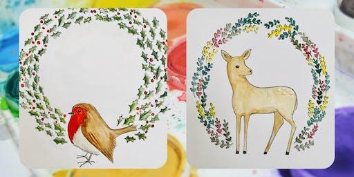 Create a Christmas Mandala with artist Sarah Lovell