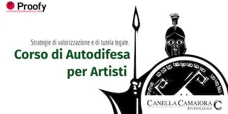 Corso di Autodifesa per Artisti biglietti