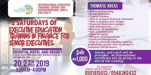 2 Saturdays of Executive Education Training in Finance for Senior Executives