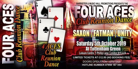 4 ACES CLUB REUNION DANCE tickets