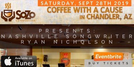 "SoZo Coffeehouse Presents: Nashville Songwriter ""Ryan Nicholson"" - September 28th, 2019 (7PM) tickets"