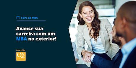 Feira Internacional de MBAs em São Paulo - QS World MBA Tour ingressos