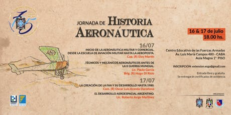 Jornada de Historia Aeronáutica entradas