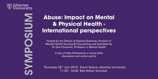SYMPOSIUM: Impact of Abuse on Mental and Physical Health