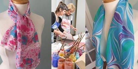 Art of Marbling on to pure silk / pure cotton fabrics workshop  tickets