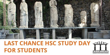 The Macquaire Ancient History Association's Last Chance HSC Study Day for Students tickets