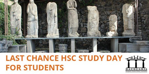 The Macquaire Ancient History Association's Last Chance HSC Study Day for Students