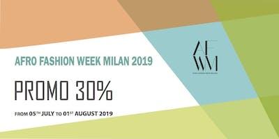 AFRO FASHION WEEK MILANO 2019 VENDITA PROMO 30%