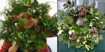 Christmas Wreath Making Workshop 7th December pm Whalley