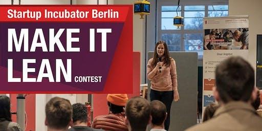 Preisverleihung Make It Lean Contest 2019